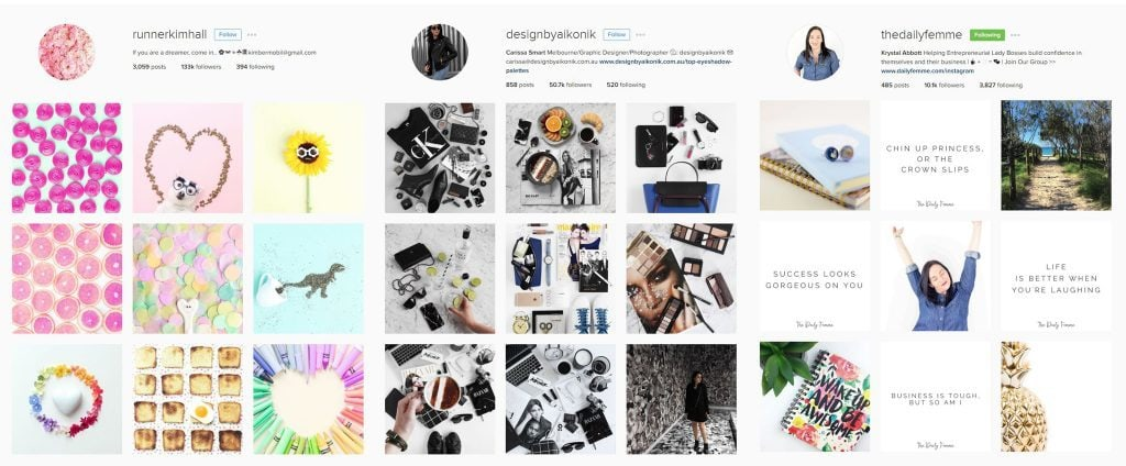 Sample IG Feeds with a theme 1